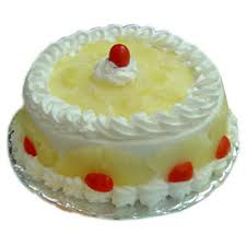 Cake EGGLESS Half�Kg Pineapple