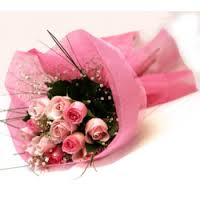 8 Pink Roses Bouquet