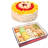 Half Kg Mix Barfi with 1/2 Kg Fresh fruit Cake