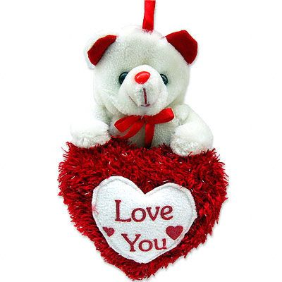 Teddy 6 inches with I LOVE YOU Valentine Heart
