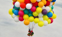 50 Coloured Gas Balloons