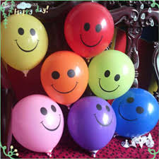6 Smiley Balloons Air Filled