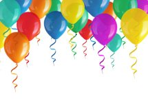 10 Helium Gas Filled Balloons