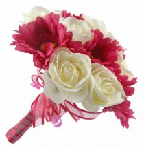 5 white Roses 5 Pink gerberas Bouquet