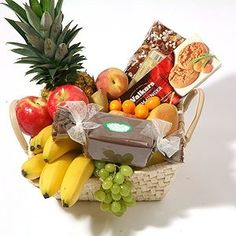 2 Kg. Fresh Fruits in Basket with cookies