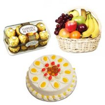 16 Ferrero 2 kg Fresh fruits 1/2 kg Pineapple cake