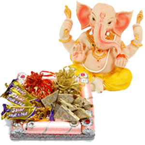 Half Kg Sweets 3 cadburys chocolates  Ganesh Idol