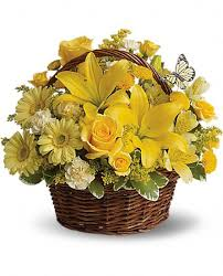 Yellow flowers Basket
