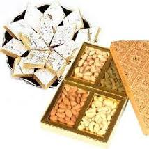 250 grams Kaju Barfi+ 250 grams Kg Dry Fruits