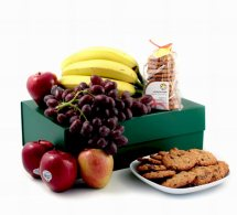 Fresh Fruits with cookies