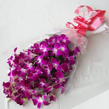 20 Purple Orchids Bouquet