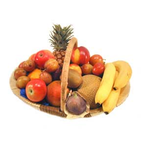 2 Kg. Fresh Fruits in Basket