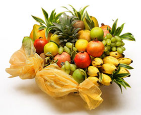 5 Kg. Fresh Fruits in Basket