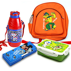 Water bottle Tiffin Box Pencil Box School Bag