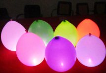 7 Illuminating LED Air filled balloons