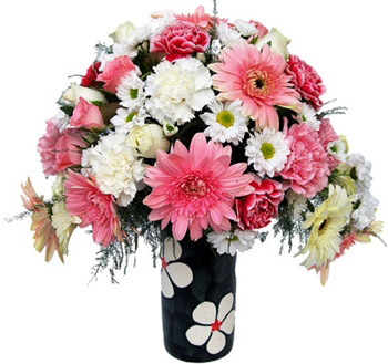 24 Assorted Flowers in a Vase