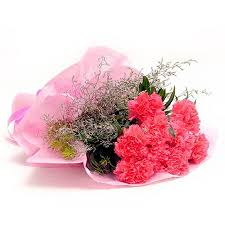 10 Pink Carnations Bouquet