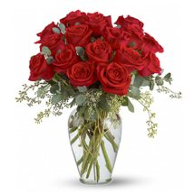 2 Dozen Red Roses in Vase
