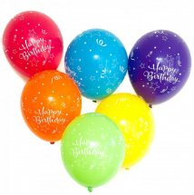 10 Happy Birthday Balloons Air Filled
