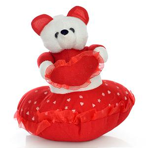 6 Inch Teddy and Heart