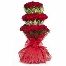 75 Red Roses Triple packing Bouquet