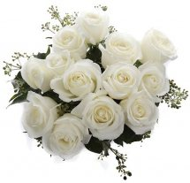 10 White Roses Bouquet