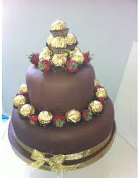 2 tier Ferrero rocher Chocolate Cake 2 Kg