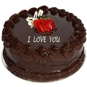 Images Of I Love U Cake : India Flowers : Send flowers to Chennai. Ombr cakes to India.