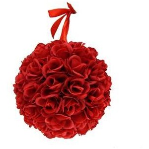 Hanging ball of 30 Red roses