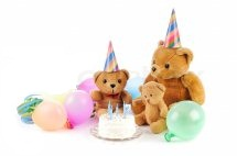 Two 6 inches One 12 inches Teddy bears with 1/2 Kg chocolate cake and 4 Balloon