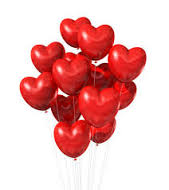 20 Heart shaped Helium Gas fill balloons