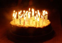 1 kg Cake with Candles