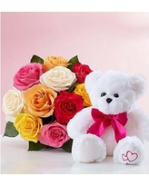 6 inches Teddy 12 mix roses