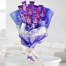 Cadbury dairy milk chocolates in a bouquet