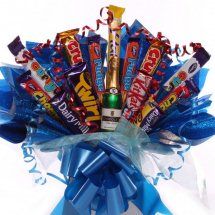 Assorted chocolates in a bouquet