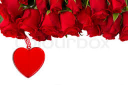 Valentine heart with 18 Red roses