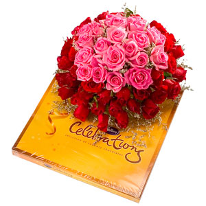 12 MIX roses Bunch+SmallCadburys Celebrations�Chocolates