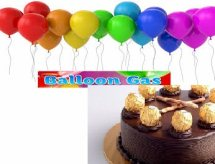 20 Gas Balloons and 1/2 Kg Ferrero rocher chocolate cake