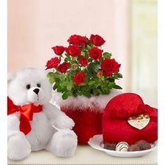 12 red roses Valentine heart with 6